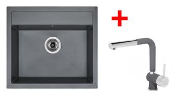 Sinks SOLO 560 Titanium + Sinks MIX 3 P - 72 Titanium