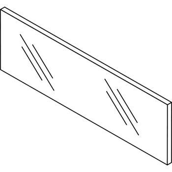 Blum ze7w332g Leg-box čelní sklo čiré pro šířku korpusu 450mm, výška 138mm