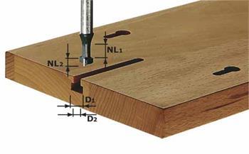 Festool HW S8 D10,5/NL13 Drážkovací fréza tvaru T, HW, stopka 8 mm (491035)