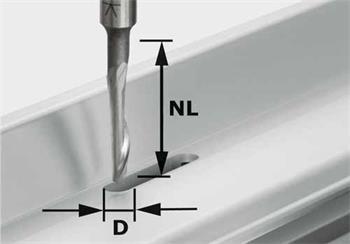 Festool HS S8 D5/NL23 Fréza na hliník HS, stopka 8 mm (491036)