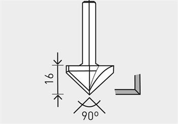 Festool HW S8 D32/90° Fréza na sádrokarton HW, stopka 8 mm (491001)