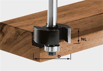 Festool HW S8 D31,7/NL 12,7 Polodrážkovací fréza HW, stopka 8 mm (491022)
