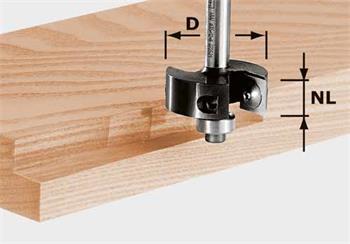 Festool HW S8 D38/12 Polodrážkovací fréza s výměnnými břity HW, stopka 8 mm (491085)