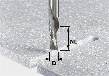 Festool HW Spi D12/42 LD ss S12 Ohrubovací / začisťovací drážkovací fréza HW stopka 12 mm (492656)