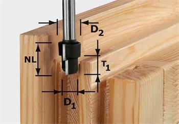 Festool HW D20,3/12,3/6 S12 Stupňovitá fréza HW stopka 8 mm (492714)