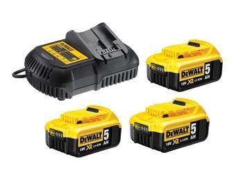 DeWALT DCB115P3 sada nabíječky a baterií 18V