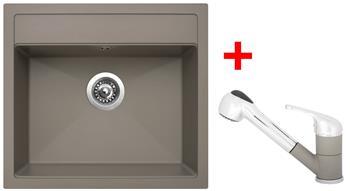 Sinks SOLO 560 Truffle + Sinks CAPRI 4 S - 54 Truffle