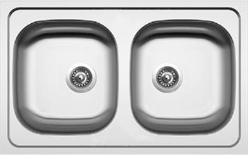 Sinks CLASSIC 790 DUO V 0,6mm matný + Sinks VENTO 4 S lesklá