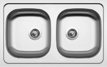 Sinks CLASSIC 790 DUO V 0,6mm matný + Sinks VENTO 55 lesklá