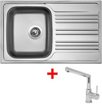 Sinks STAR 780 V 0,6mm matný + Sinks MIX 350 P lesklá