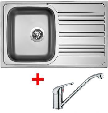 Sinks STAR 780 V 0,6mm matný + Sinks VENTO 4 lesklá
