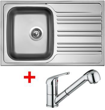 Sinks STAR 780 V 0,6mm matný + Sinks VENTO 4 S lesklá