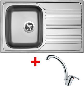 Sinks STAR 780 V 0,6mm matný + Sinks VENTO 55 lesklá