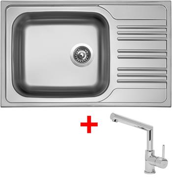Sinks STAR 780 XXL V 0,7mm matný + Sinks MIX 350 P lesklá