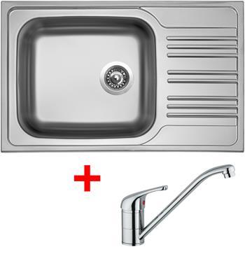 Sinks STAR 780 XXL V 0,7mm matný + Sinks VENTO 4 lesklá