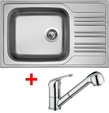 Sinks STAR 780 XXL V 0,7mm matný + Sinks VENTO 4 S lesklá