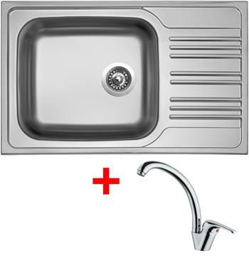 Sinks STAR 780 XXL V 0,7mm matný + Sinks VENTO 55 lesklá