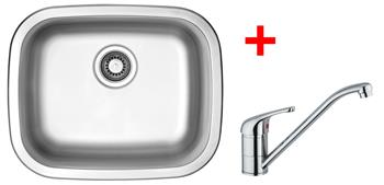 Sinks NEPTUN 526 V 0,6mm matný + Sinks VENTO 4 lesklá