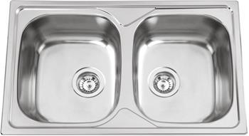 Sinks OKIO 800 DUO V 0,6mm leštěný