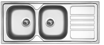 Sinks OKIO 1160 DUO V 0,6mm leštěný