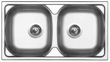Sinks OKIO 780 DUO V 0,5mm leštěný