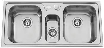 Sinks BETA 1000.1 DUO V 0,7mm leštěný
