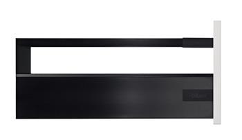 Blum Antaro sada Tip-On + Blumotion 400mm 30kg černá výška D s relingem (bočnice K)