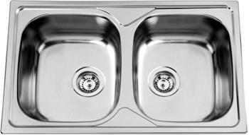 Sinks OKIO 800 DUO V 0,6mm matný (drobné promáčkliny)