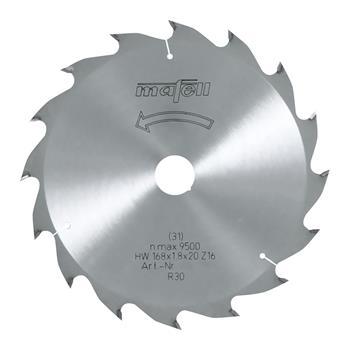 Mafell Pilový kotouč-HM, 168 x 1,2/1,8 x 20 mm, Z 16, WZ (092476)