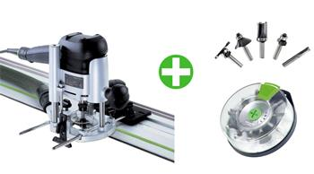 Festool OF 1010 EBQ-Set + Box-OF HW 10xS8 Mix