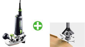 Festool MFK 700 EQ/B-Plus + Zaoblovací frézka S8 HW R2 D28 KL12,7OFK