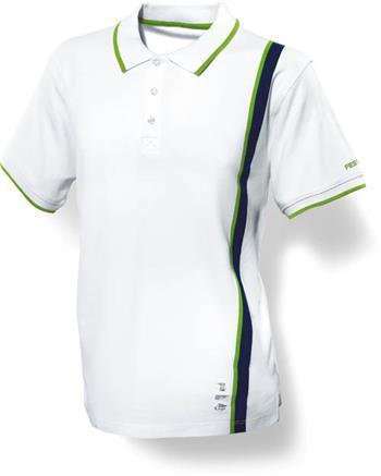 Festool Pánské bílé triko s límečkem M (498463)
