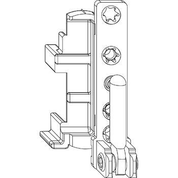MACO spodní rohové ložisko DT, 12/18 mm, pravé, 130 kg, stříbrné (52703)