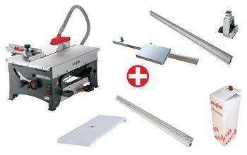 Mafell ERIKA 85 Ec + přídavný stůl, posuvné saně, cleanbox a příslušenství