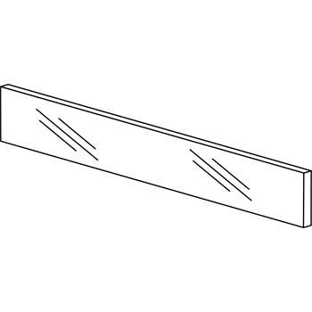 Blum ZE7V1082G Legrabox čelní sklo čiré pro šířku korpusu 1200mm, výška 70mm