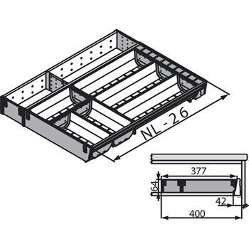Blum ZSI.600KI4 ORGA LINE příborník a rozdělovník, délka 600 mm