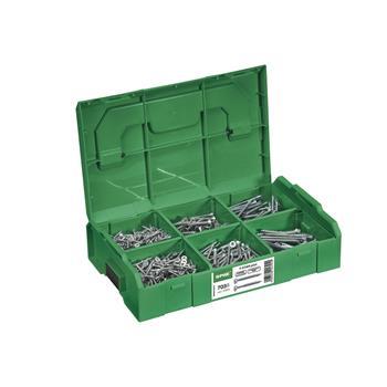 SPAX montážní kufr/ L-BOXX mini, T-SATR plus, Wirox-stříbrná (703 ks)