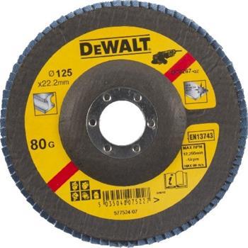 DeWALT DT3267 Brusný lamelový kotouč vypouklý šikmý 80 G na kov, 125 mm