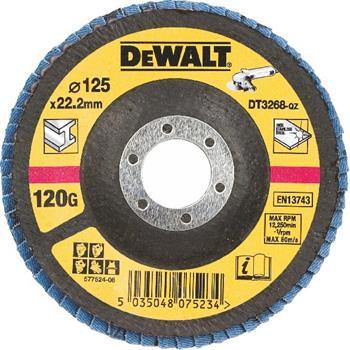 DeWALT DT3268 Brusný lamelový kotouč vypouklý šikmý 120 G na kov, 125 mm