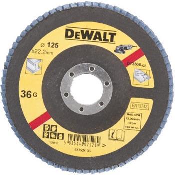 DeWALT DT3308 Brusný lamelový kotouč plochý šikmý 36 G na kov, 125 mm