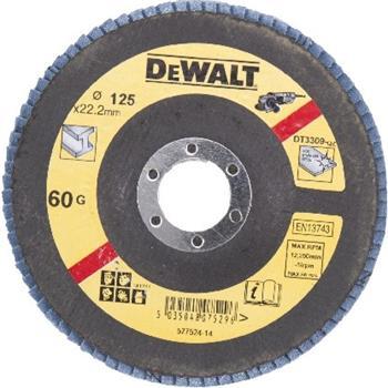 DeWALT DT3309 Brusný lamelový kotouč plochý šikmý 60 G na kov, 125 mm