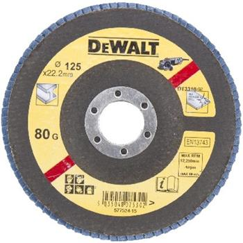DeWALT DT3310 Brusný lamelový kotouč plochý šikmý 80 G na kov, 125 mm
