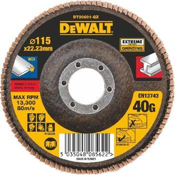 DeWALT DT30601 Brusný lamelový kotouč plochý Extreme na kov 40 G, 115 mm
