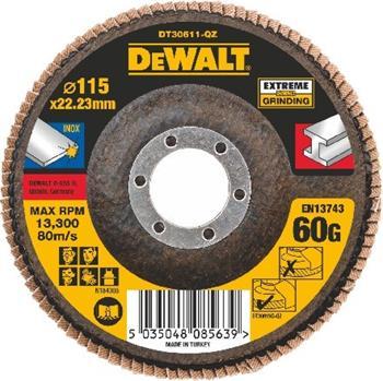 DeWALT DT30611 Brusný lamelový kotouč plochý Extreme na kov 60 G, 115 mm