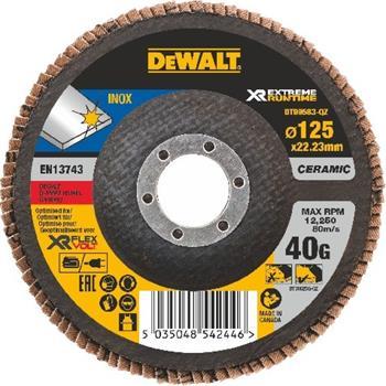 DeWALT DT99583 Brusný lamelový kotouč FLEXVOLT na kov 40 G, 125 mm