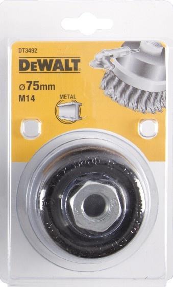 DeWALT DT3492 Drátěný kartáč talířový s kroucenými uzly pro úhlové brusky, 75 mm