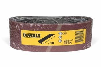 DeWALT DT3303 Brusný pás pro pásové brusky K80, 533 x 75 mm, 10 ks