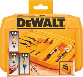 DeWALT DT7612 kompletní sada vrtáků a záhubníků, 12 ks