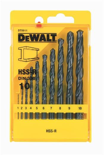 DeWALT DT5911 sada vrtáků do kovu HSS-R DIN 338, 10 ks