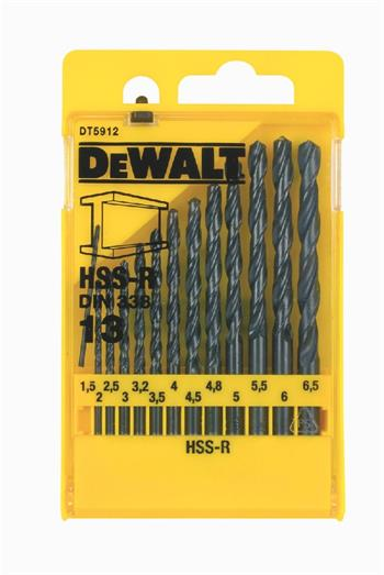 DeWALT DT5912 sada vrtáků do kovu HSS-R DIN 338, 13 ks